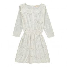 Robe Broderie Anglaise Petunia Blanc