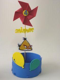 Centro de Mesa Cestão Angry Birds - Cortes para Montar  www.petilola.com.br