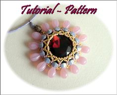 Beading pattern of beaded pendant Zelli, PDF instructions, tutorial for beading step by step