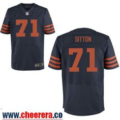 nike bears 71 josh sitton navy blue team color youth stitched nfl vapor untouchable limited jersey