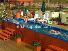 Large Outdoor Spa Pool Hot Tub Outdoor Swim Spa 12