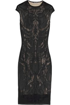 Alexander McQueen | Skeleton-weave fine-knit dress