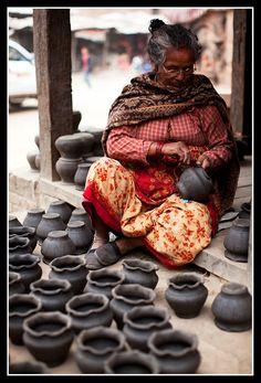 """Bhaktapur potmaker"" by K S Ng,"