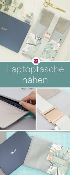 [Werbung] Sew-on laptop bag with flap, buckle and imitation leather . : [Advertising] Sewing the right laptop bag with flap, buckle and imitation leather. The pattern will be created together. Includes video tutorial by DIY Owl Diy Sewing Projects, Sewing Projects For Beginners, Knitting For Beginners, Knitting Projects, Sewing Tutorials, Easy Knitting, Diy Bags Purses, Diy Accessoires, Knitted Bags