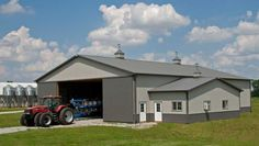 Farm building profile use insulated farm shop cold for Barn home builders indiana