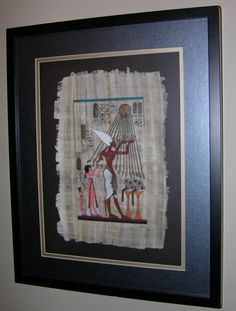 A friend who visited Egypt brought me this painting on papyrus, which I had framed.