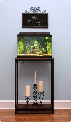 "ballard inspired bookcase aquarium stand. For Glumpy's new ""mansion""."