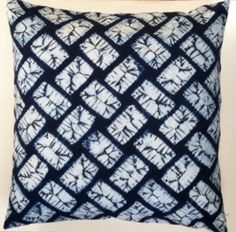 Japanese shibori tie-dyed pillow cover eclectic-decorative-pillows