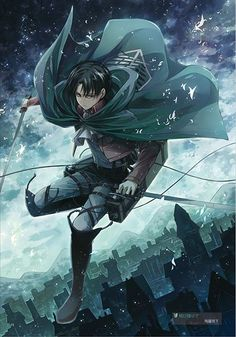 "Levi Ackerman from ""Attack on Titan (Shingeki no Kyojin)"" Ereri, Levi X Eren, Armin, Levi Ackerman, Mikasa, Otaku, Tamako Love Story, Accel World, Anime Lindo"