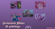 Horizontal Pinks Art for Sims 4 | Sims 4 Updates -♦- Sims 4 Finds & Sims 4 Must Haves -♦- Falling Objects, Cute Calendar, Sunflower Nails, Pink Painting, Sims 4 Update, Neon Nails, Seamless Background, Pink Art, My Sims