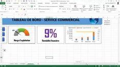 Excel - Tableau de Bord  Service Commercial   (Module 2)