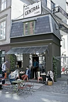 Discover Central Hotel and Cafe on HOUSE - design, food and travel by House & Garden. Looking for Copenhagen hotels? A one-bedroom hotel that's as individual as it is exclusive. Copenhagen Cafe, Copenhagen Travel, Copenhagen Denmark, Central Cafe, Denmark Travel, Cafe Shop, Shop Fronts, Cafe Interior, Small World