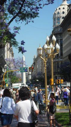 Centro de Bs.As., obelisco al fondo. Argentina.   -lbk-