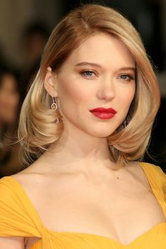 """Ysabeau de Clermont - Léa Seydoux. It took a long time to find the """"perfect"""" Ysabeau. In the end, she had to be French. This woman looks and sounds almost exactly how I picture her reading the books. Dead ringer! (No pun intended)"""