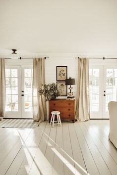 Three Front Doors natural light in living room in Minimalistic Home My Living Room, Home And Living, Living Room Decor, Cozy Living, Modern Living, Apartment Decoration, Bright Homes, Industrial Living, Up House