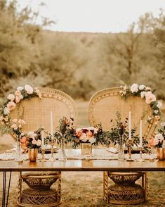 You're A Boho Princess, Here's How To Have A Wedding To Match romantic boho inspired wedding table decor - Boho Wedding Wedding Trends, Wedding Styles, Wedding Venues, Wedding Ceremony Ideas, Wedding Rentals, Wedding Table, Rustic Wedding, Sweet Heart Table Wedding, Floral Wedding