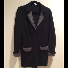 Wool topper Can be used as a light overcoat, but I wore it like a blazer.  Bought in Europe, size says 12 but more like a size 8-10. Jackets & Coats Blazers