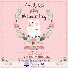 Muslim Wedding Cards, Muslim Wedding Invitations, Homemade Wedding Invitations, Invitation Card Design, Digital Invitations, Wedding Invitation Design, Invitation Cards, Bride And Groom Cartoon, Wedding Badges