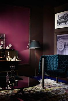 Dark palette of burgundy and teal. There's something so peaceful and romantic about luscious jewel tone colours