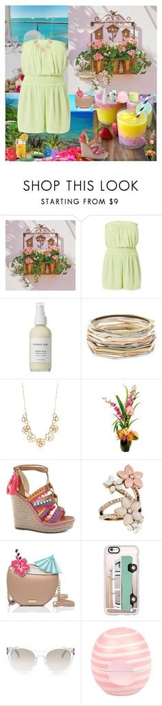 """Summer Paradise"" by oksana-kolesnyk ❤ liked on Polyvore featuring Improvements, New Look, French Girl, Kendra Scott, Kate Spade, Designs by Lauren, Schutz, Accessorize, Casetify and Elie Tahari"