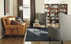 Emory Leather Sofa with Louis Chairs - Living - Room & Board