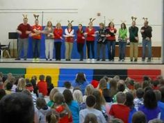 Starr Elementary Teachers' performance at all school holiday assembly (sing-along) 2012.