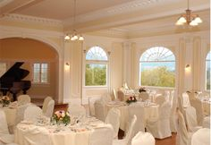 Indoor Wedding/Reception Venue - Music Room at The Stanley Hotel.