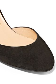 Christian Louboutin - Rounditown 70 Suede Pumps - Black - IT36.5