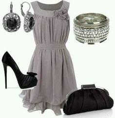 Loving the grey dress