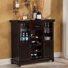 Tuscan Expandable Wine Bar in Espresso $199.99 from Bed, Bath, & Beyond