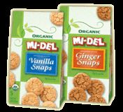 Mi-del offers a full line of organic and gluten-free cookies that taste great. Their organic cookies made without pesticides, food additives or GMO's. Outside of sugar (organic dehydrated evaporated cane juice), most of the ingredients are very healthy, free of trans-fats and high fructose corn syrup.