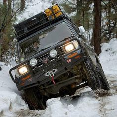 Repost from via The earning its keep on a snow covered track. Prado, Toyota Land Cruiser, 4x4, Vehicles, Snow, Car Stuff, Lovers, Camping, Outdoor Life