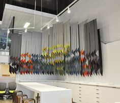 fabric swatch installation for office furniture retailer
