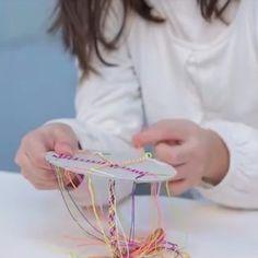 DIY Card Loom Bracelet // Video Tutorial - Make a gorgeous Card Loom Bracelet