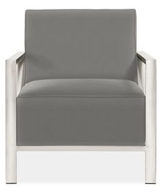 Zinc Chair in Desmond Graphite - Chairs - Living: Seating - Room & Board