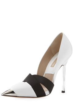 Michael KorsAna Cap-Toe Pump from Michael Kors. Shop more products from Michael Kors on Wanelo. Pretty Shoes, Beautiful Shoes, Cute Shoes, Me Too Shoes, Simply Beautiful, Carteras Michael Kors, Shoe Boots, Shoes Heels, Fall Shoes