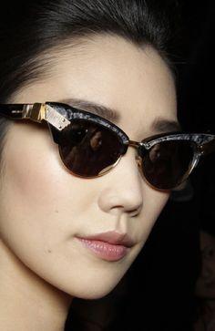 Nina Ricci cat eye sunglasses....love them. So glad the trend is back in a big way.