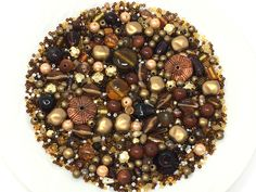 Huge lot of destash and vintage beads, earth tone colors of bronze, gold, amber brown in a loose bead mix Earth Tone Colors, Earth Tones, Sweet Butter, Wire Pendant, Copper Color, Mocha, Color Schemes, Amber, Glass Beads