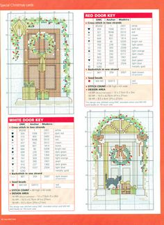 Cross stitch cards 4 of 4 Cross Stitch House, Small Cross Stitch, Cross Stitch Tree, Cross Stitch Boards, Cross Stitch Needles, Cross Stitch Designs, Cross Stitch Patterns, Cross Stitch Christmas Ornaments, Christmas Cross