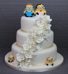 minion wedding   Minions Wedding Cake   Imaginative Icing   For Mom     Cute minions cake for something a bit different