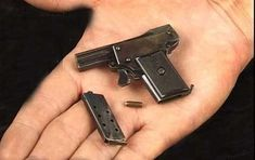 The World's Smallest Semi Automatic Pistol Save those thumbs & bucks w/ free shipping on this magloader I purchased mine http://www.amazon.com/shops/raeind No more leaving the last round out because it is too hard to get in. And you will load them faster and easier, to maximize your shooting enjoyment.