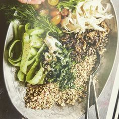Love this pic of a Nourish Bowl from Hippie Lane with lentils and quinoa. Personally I'd added some fresh tuna or smoked salmon - and it will taste magnificent and be better balanced nutritionally. The book is gorgeous but very very vego ie a plant-based and photographed on the Greek islands. So think food porn with exotic overtones :)