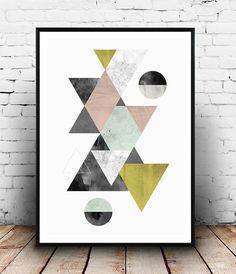 Abstrait art conception géométrique de scandinave par Wallzilla