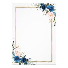 Customizable Invitation made by Zazzle Invitations. Personalize it with photos & text or shop existing designs! Wedding Menu Cards, Simple Wedding Invitations, Blue And Blush Wedding, Blush Pink, Gold Wallpaper Background, Geometric Wedding, Floral Wall Art, Wedding Templates, Wedding Frames