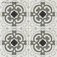Handmade cement tile by Original Mission Tile - all cement tiles can be customized to create your own according to your project's specs. Nottingham, Parisian Bathroom, Tiles For Sale, Wood Backsplash, Backsplash Ideas, Encaustic Tile, Bathroom Floor Tiles, Tile Floor, Concrete Tiles