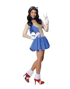 sonic the hedgehog adult womens costume its so awesome and not skanky i - Womens Halloween Costumes Not Skanky