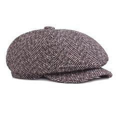 92075f55c88 Men Women Vintage Knit Cotton Beret Cap Stripe Hat Winter Warm Folding Newsboy  Cap is hot sale on Newchic.
