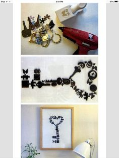 Unique DIY Handmade Wall Art Wall art projects are simply the best. They are both fun and make your rooms look absolutely amazing. Here is another really awesome Unique DIY Handmade Wall Art project. Diy Projects To Try, Crafts To Do, Home Crafts, Craft Projects, Arts And Crafts, Key Projects, Diy Wand, Mur Diy, Cuadros Diy