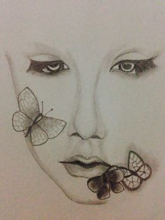 Face with butterfly