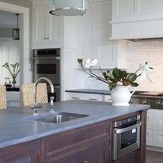 Milton Development - kitchens - concrete countertops, concrete island, two-tone kitchen, two-tone cabinets, two-tone kitchen cabinets, kitch...